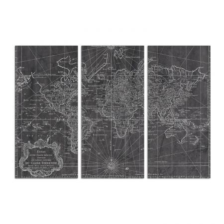 47 best World images on Pinterest 3 piece art, Oliver gal art and - best of world map grey image