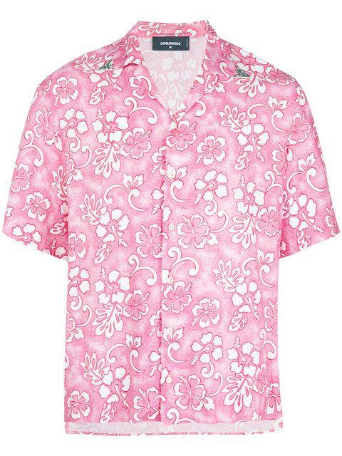 Dsquared2 Hawaiian Print Shirt - Farfetch