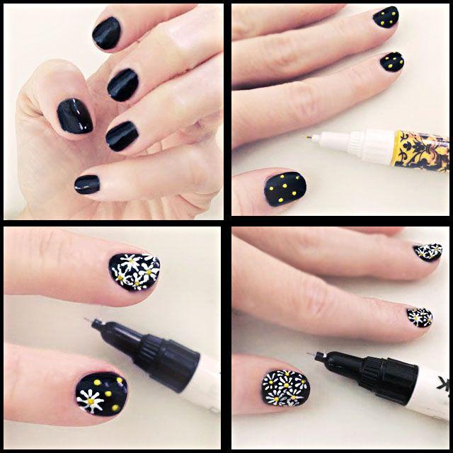 diy daisy nails