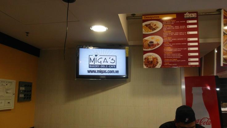 Cartelera Digital informativa de MIGA's por @IMVINET #MenuBoard #DigitalSignage