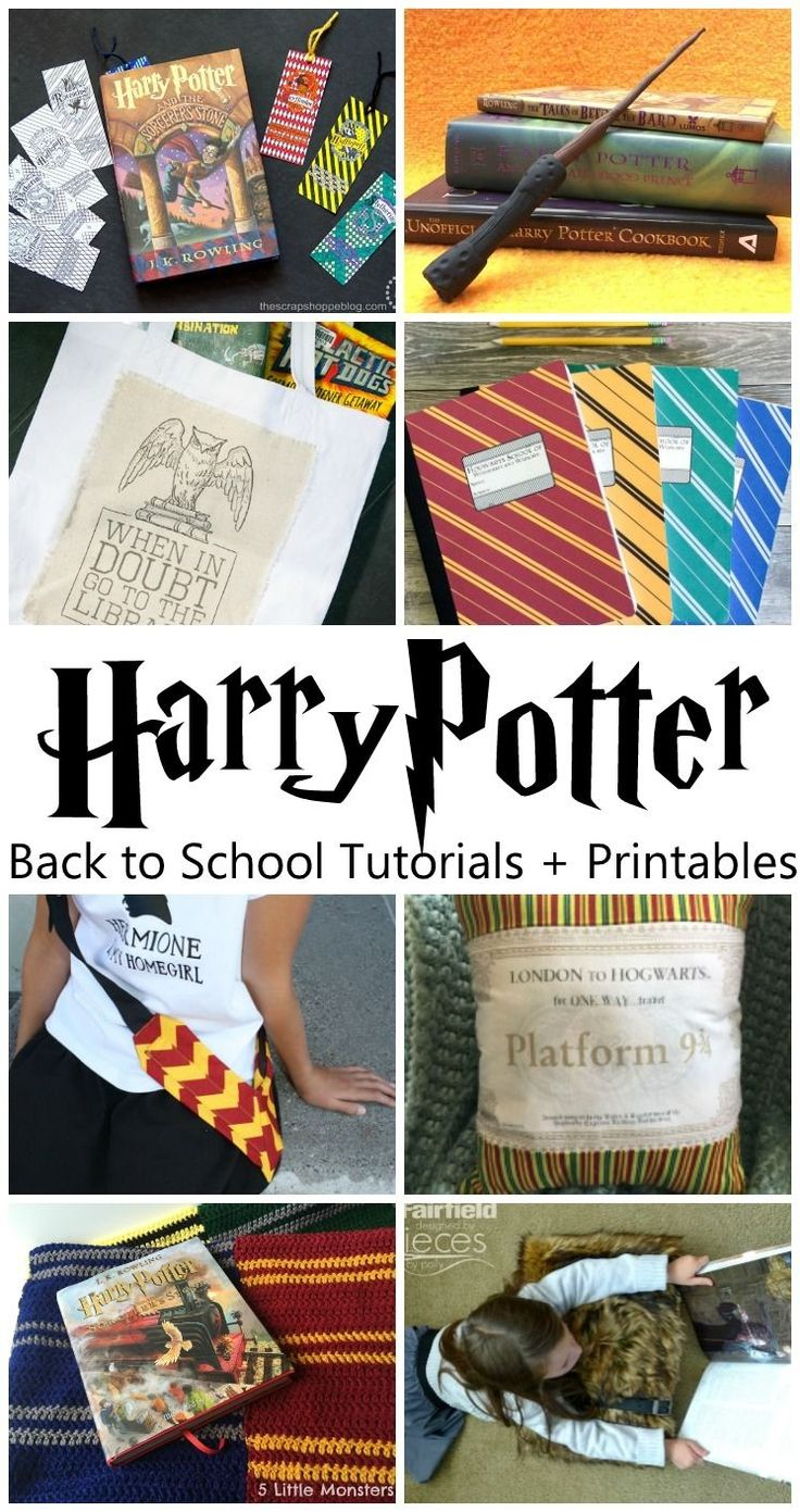 Harry Potter back to school style. Printables, craft tutorials, and more