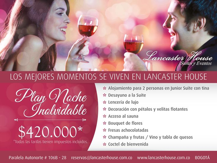 Plan Noche Inolvidable / Unforgetable Night #romantic #romance #aniversarios #aniversaries #Celebrations #Birthdays #cumpleanos #hotel #Bogota