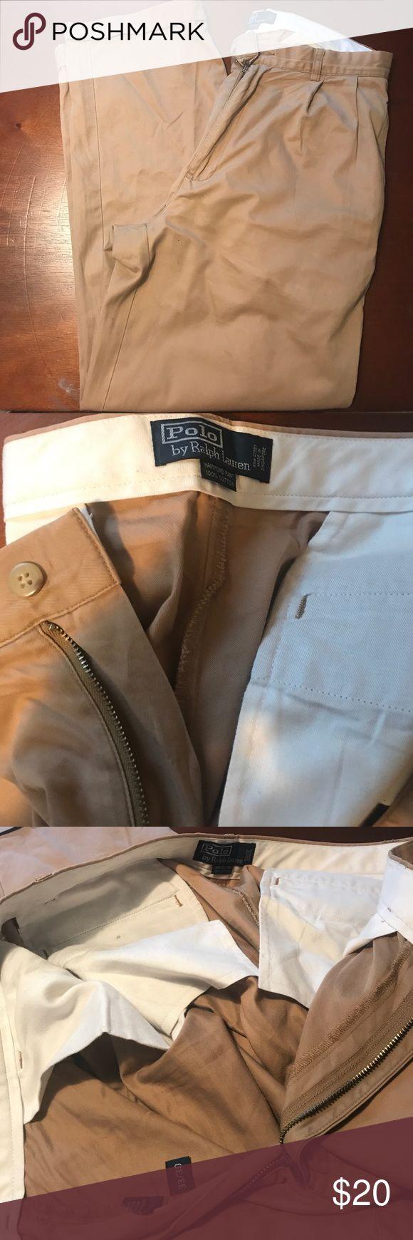 Men Khakis Polo by Ralph Lauren Men Khakis Polo by Ralph Lauren. Size: Waist- 33 Length- 30 (gently used) Polo by Ralph Lauren Pants Chinos & Khakis