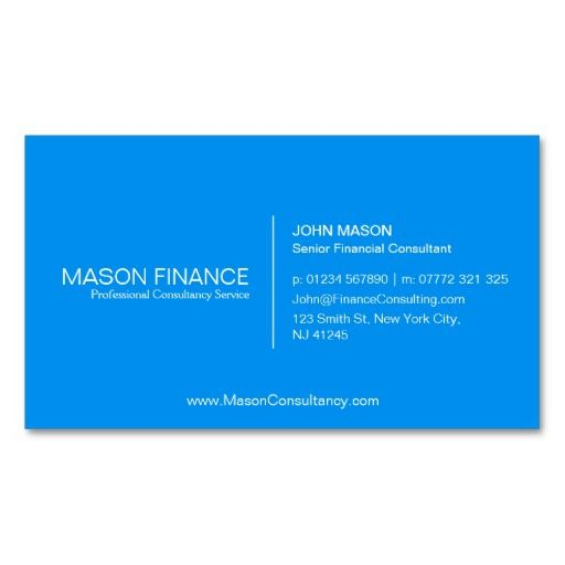 98 best blue business cards images on pinterest business cards simple blue customizable business card template reheart Image collections