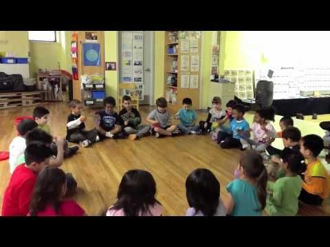 ▶ 1st Grade Bean Bag Game- May 2012 - YouTube