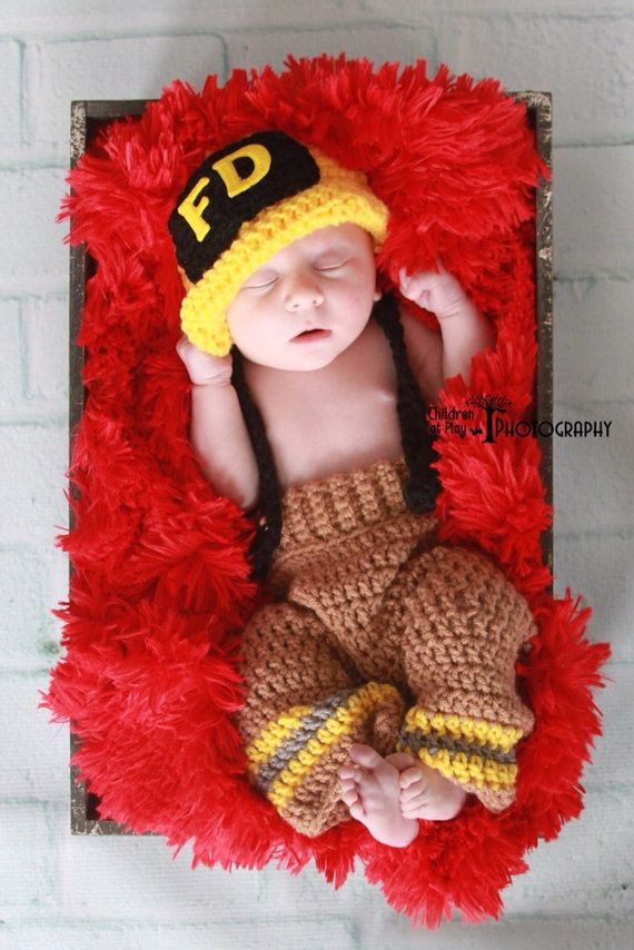 Check out this item in my Etsy shop https://www.etsy.com/listing/249549859/baby-firefighter-outfit-newborn-prop