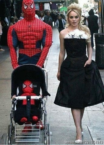 Spiderman Family Costume Funny Celebrity Pics Spiderman