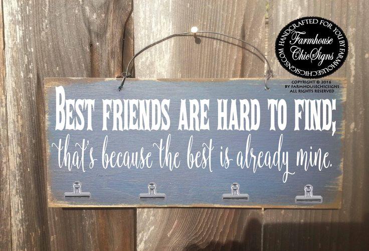 best friends, best friend gift, gift for friend, best friend birthday gift, best friend Christmas gift, best friend picture frame by FarmhouseChicSigns on Etsy https://www.etsy.com/listing/467703111/best-friends-best-friend-gift-gift-for