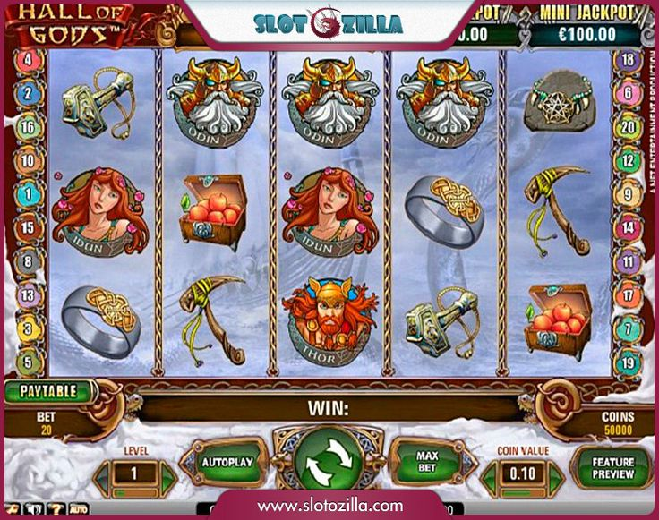Hall of Gods free #slot_machine #game presented by www.Slotozilla.com - World's biggest source of #free_slots where you can play slots for fun, free of charge, instantly online (no download or registration required) . So, spin some reels at Slotozilla! Hall of Gods slots direct link: http://www.slotozilla.com/free-slots/hall-gods