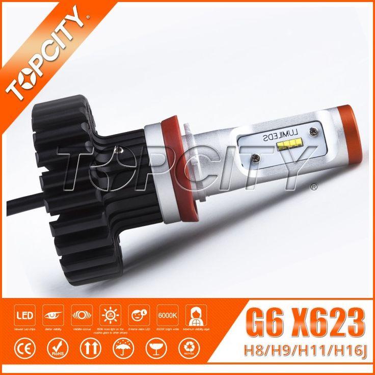 Topcity Factory Selling Directly X623 G6 Z-ES Chips 80W Car Head Light Bulbs H8 H9 H11 H16J Single Beam White Head Lamp