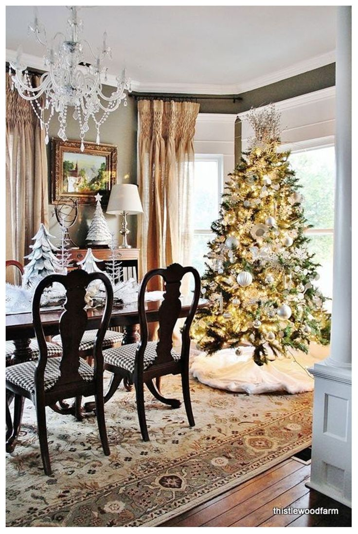 141 best dining room images on pinterest christmas dining rooms christmas decorations tree this would be great in my bay window in the dining room