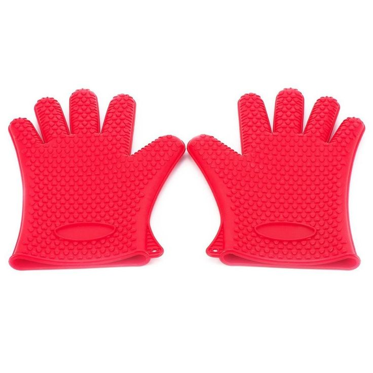 Heat Resistant Gloves Oven Mitts Grill BBQ Cooking Baking Silicone Pot Holder #XChef