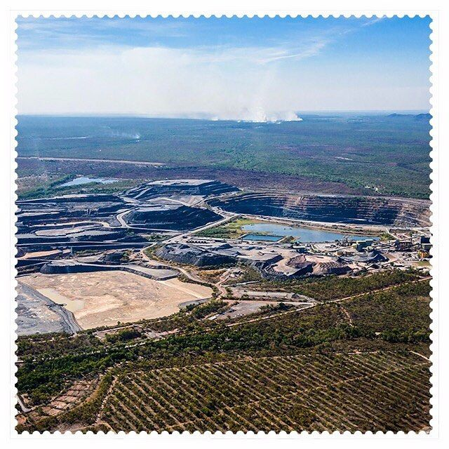 Flying over the mines of Jabiru, 0886. #AustraliaConnected #postcode0886