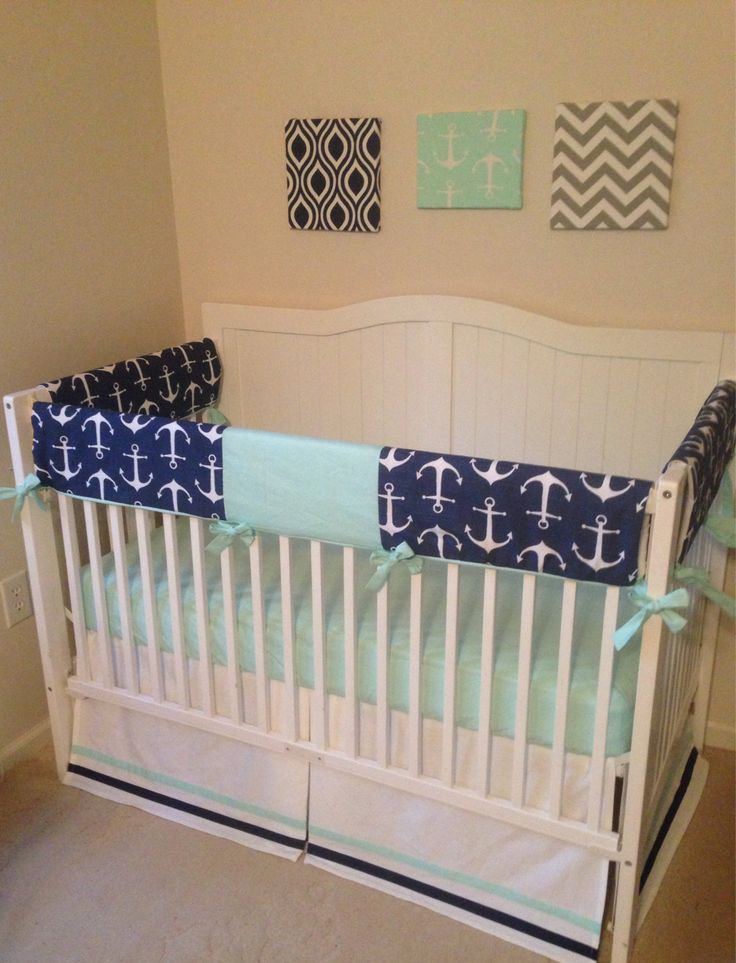 35 best images about Navy mint and white nursery ideas on