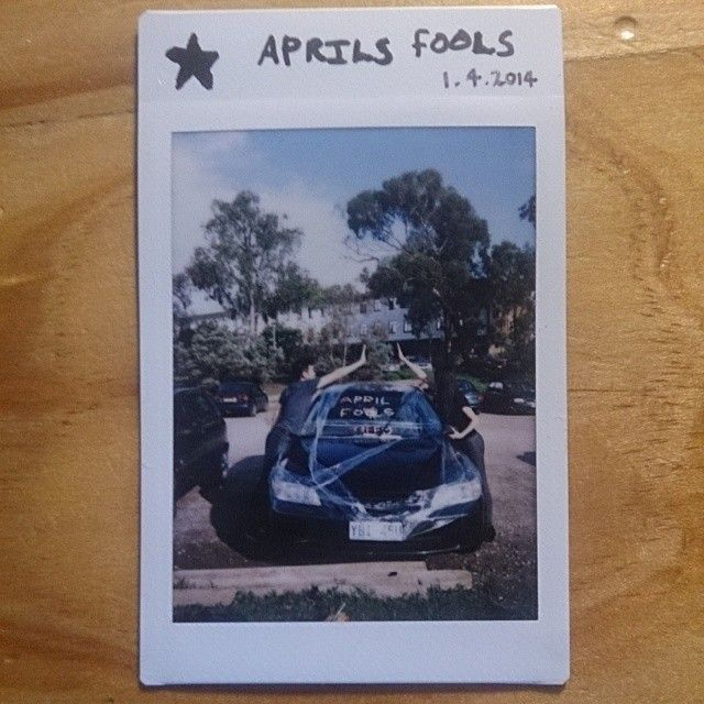 54 cards in a deck // 52 weeks in a year. Right, so I lied about the 52 cards/weeks thing and made jokers too. This is from April Fool's Day where we covered a friends car in cling wrap and sticky notes. Gosh we're hilarious! #prank #polaroid #photochallenge #photography