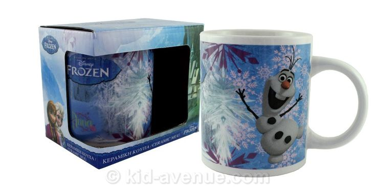 Un joli mug La reine des neiges avec Anna, Elsa et Olaf en guise de décor. La tasse est en céramique et convient au lave-vaisselle et micro-onde ! #lareinedesneiges #disney #frozen #olaf