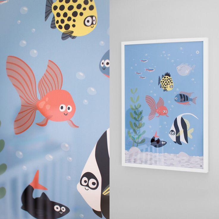 Akvarium - Nästan som ett riktigt! Men du slipper mata fiskarna :)