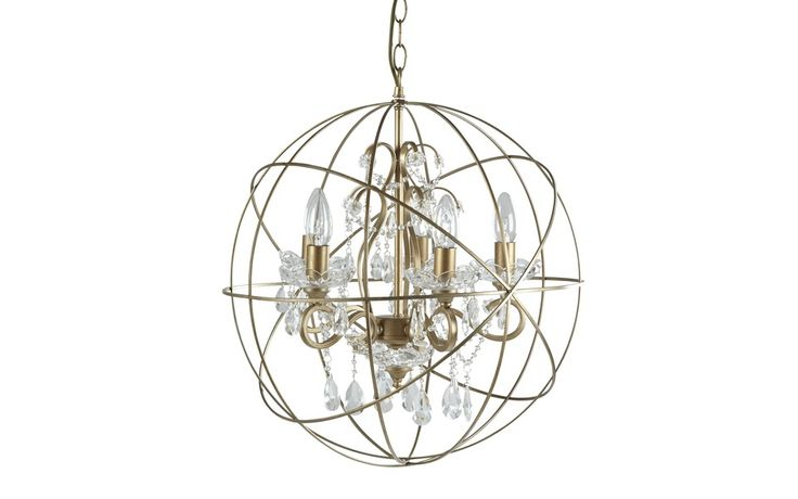 Gold Shamley Sphere Chandelier at Laura Ashley