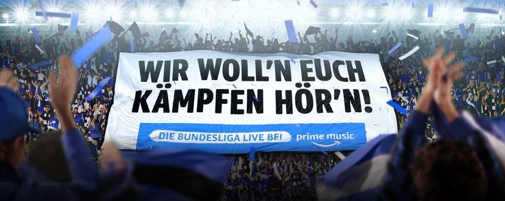 Jetzt mit Prime Music die Bundesliga live und ohne Werbung streamen; Bundesliga, Live, Amazon, Amazon Music, Fußball, DFL, Fußball-Bundesliga