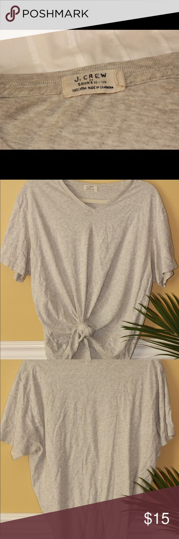 J crew comfy big tee Super soft and cozy j crew t 👚! Doesn't have to be tied in knot J. Crew Tops Tees - Short Sleeve