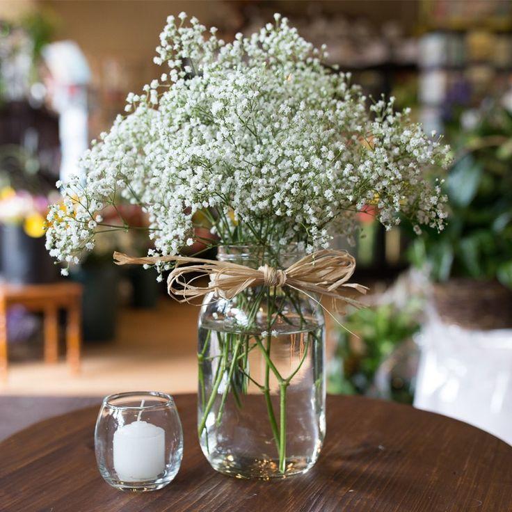 Mason Jar Wedding Reception Ideas: Baby's Breath In A Mason Jar