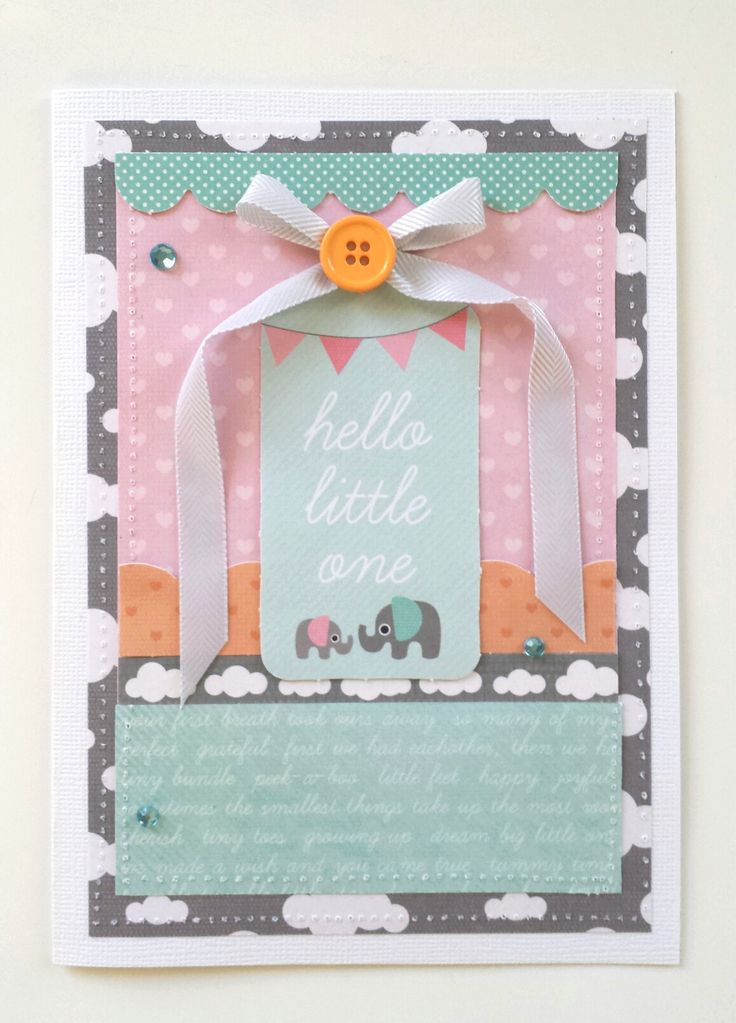 """""""Hello Little One"""" Card by Amanda Baldwin for Kaisercraft using 'Little One' collection - Wendy Schultz ~ Baby Cards."""