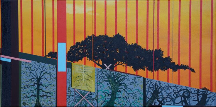 'The Wall', oil on canvas, 30 x 60cm. www.jeremyelkington.weebly.com