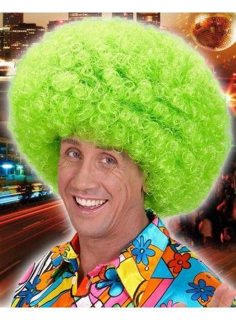 #Peluca #Afro #Verde, estupenda y colorida peluca afro en color flúor. Para más info clica aquí http://mercadisfraces.es/pelucas-afro/peluca-afro-verde.html?search_query=peluca+verde+&results=44