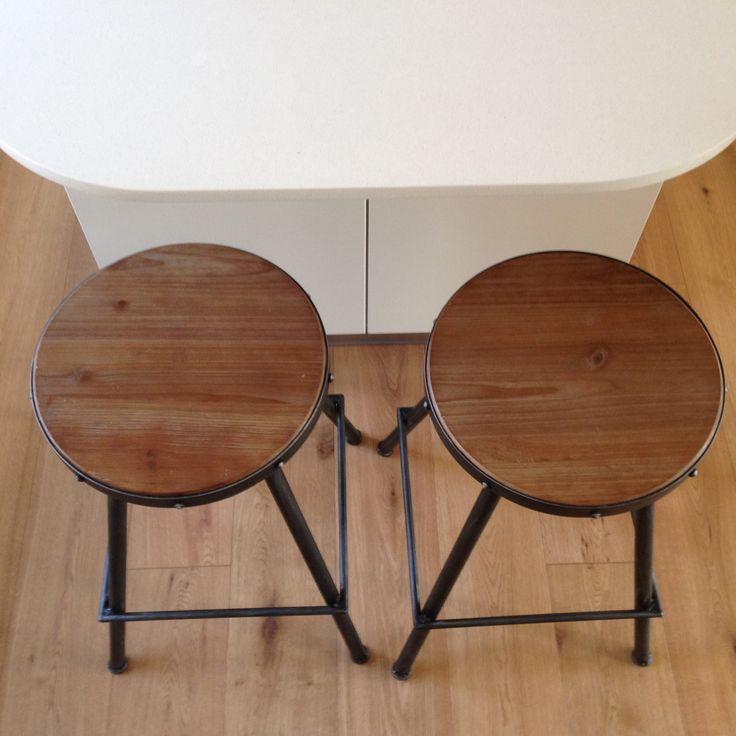 Steel Magnolias Bistro stools (Pewter colour finish)