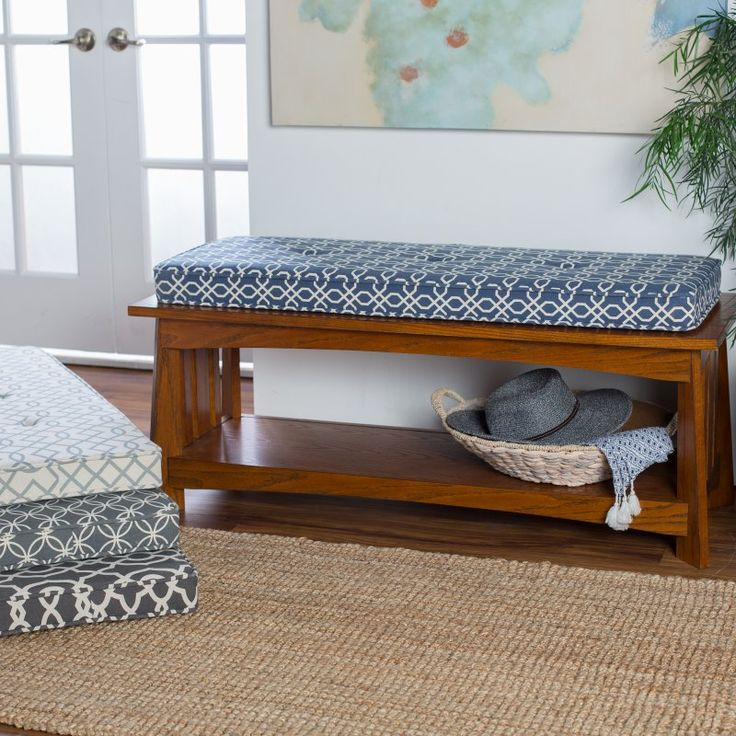 Belham Living Printed 45 x 16 in. Indoor Bench Cushion