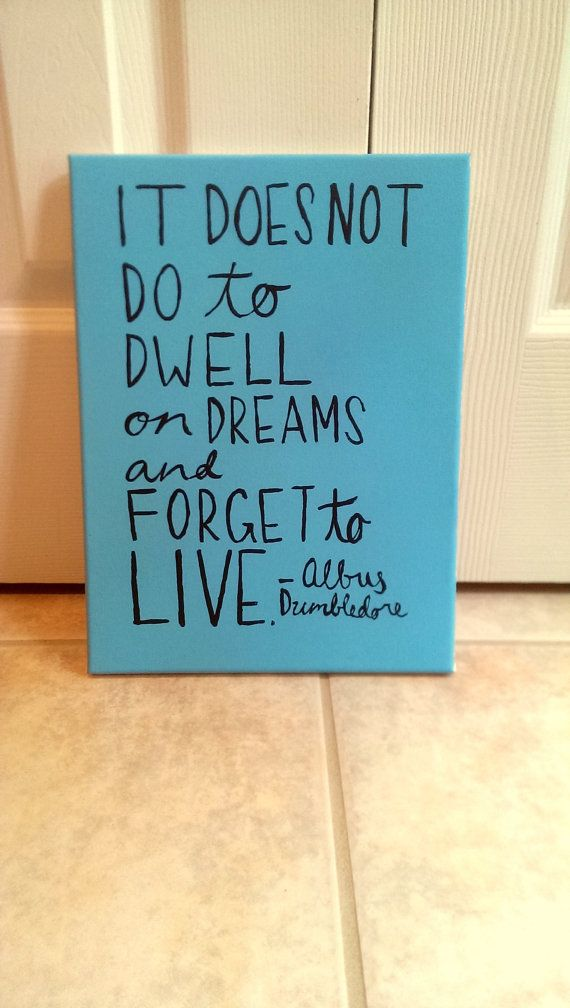 Harry Potter Canvas Quote Art on Etsy, $20.00