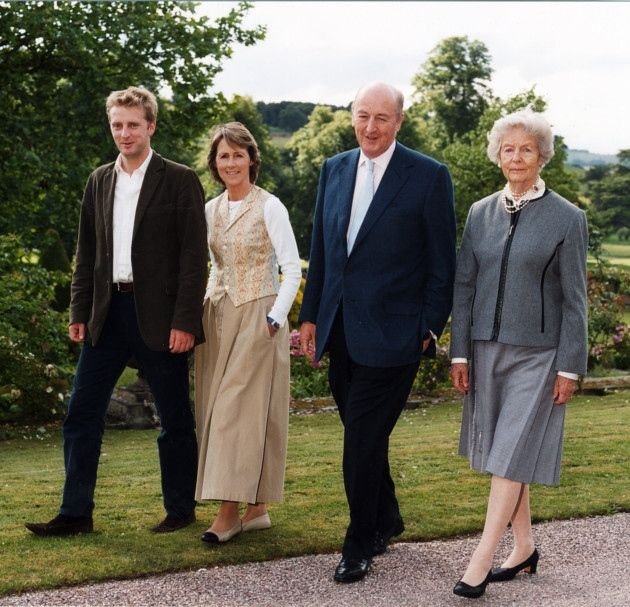 The Dowager Duchess with the Duke and Duchess and Lord Burlington