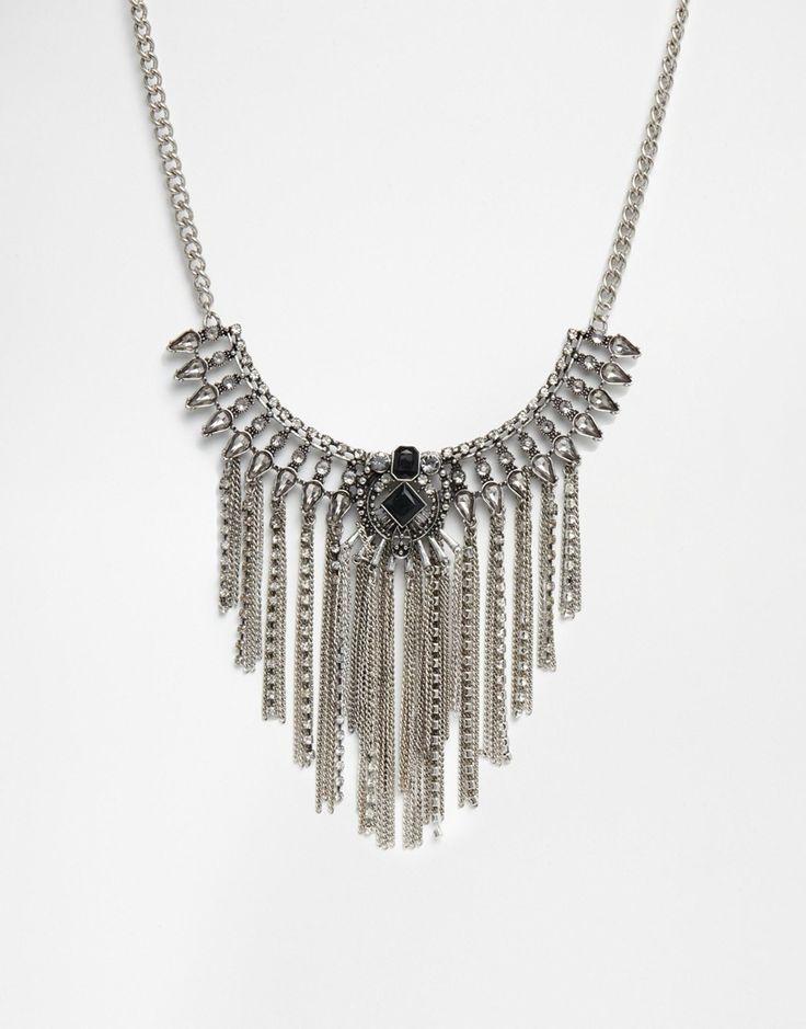 Броское ожерелье с кисточкой River Island