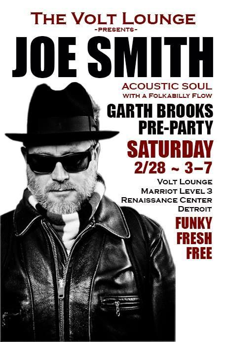 Join us Saturday for our #GarthInTheD pre-party at Volt with Joe Smith LIVE!  #detroitmarriott #visitdetroit  #LiveMusic