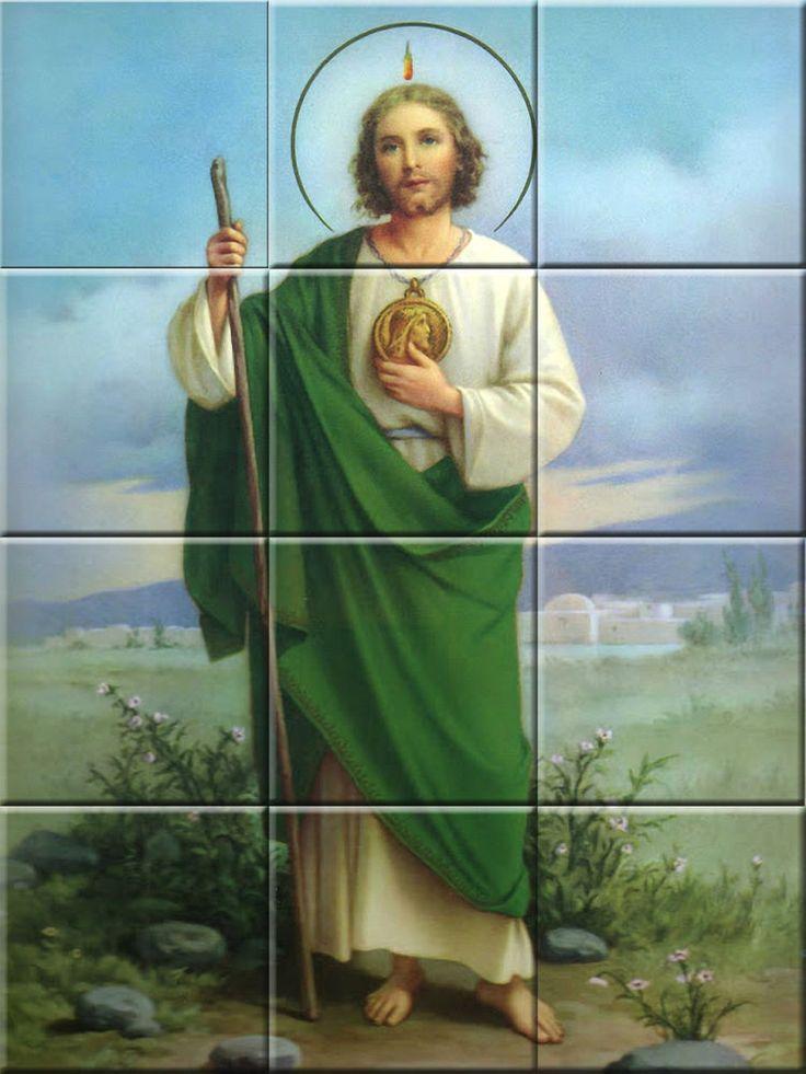 Saint Judas Tadeo Religious Decorative Ceramic Tile Murals