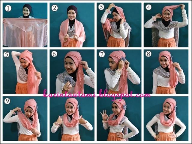 Beautiful Moody: Hijab tutorial: paris segi empat ^^
