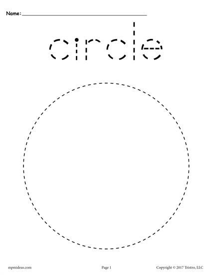 FREE preschool tracing shapes worksheets. Includes a circle tracing worksheet plus 11 other shapes tracing worksheets. Great for toddlers too! Get them all here --> http://www.mpmschoolsupplies.com/ideas/7543/12-free-shapes-tracing-worksheets/