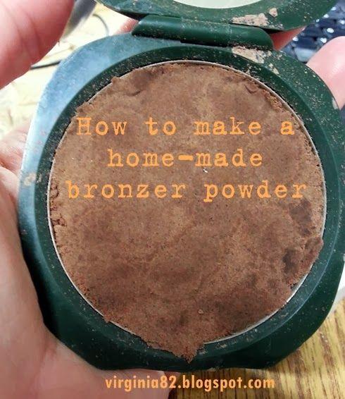 bronzer diy, how to make bronzer powder, how to make contour powder, make up, how to make uo diy,