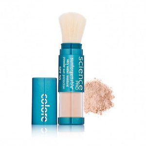 I swear by this stuff. No more burning of the eyes and face! l Colorescience Pro Sunforgettable Mineral Powder Brush SPF 50
