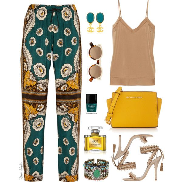 Feeling Fine by renee-switzer on Polyvore featuring moda, By Malene Birger, Valentino, Etro, MICHAEL Michael Kors, DANNIJO, What Goes Around Comes Around, Illesteva, Jean Patou and Butter London