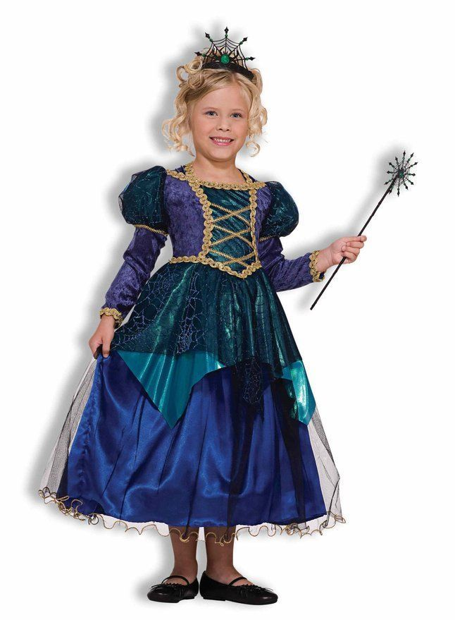 sparkle spider witch renaissance fancy dress deluxe child costume small 4 6 nip - Spider Witch Halloween Costume