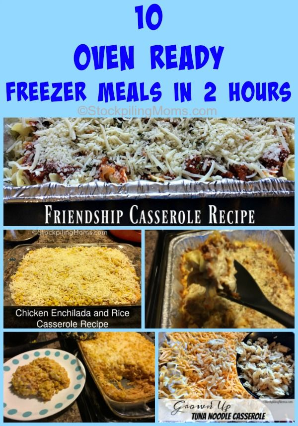 Here is a step by step on how to make 10 Oven Ready Freezer Meals in 2 Hours! No worry about what's for dinner for 2 weeks!