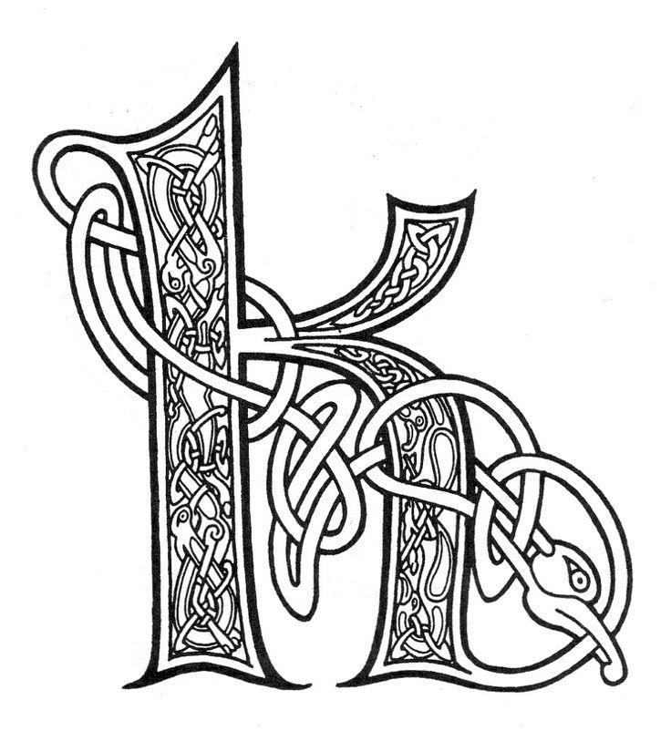 celtic alphabet coloring pages - photo#34
