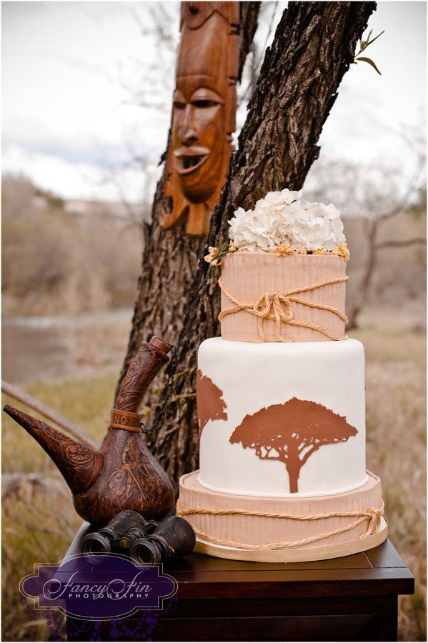 Inspiration Bridal Shoot + Vintage Safari wedding cake