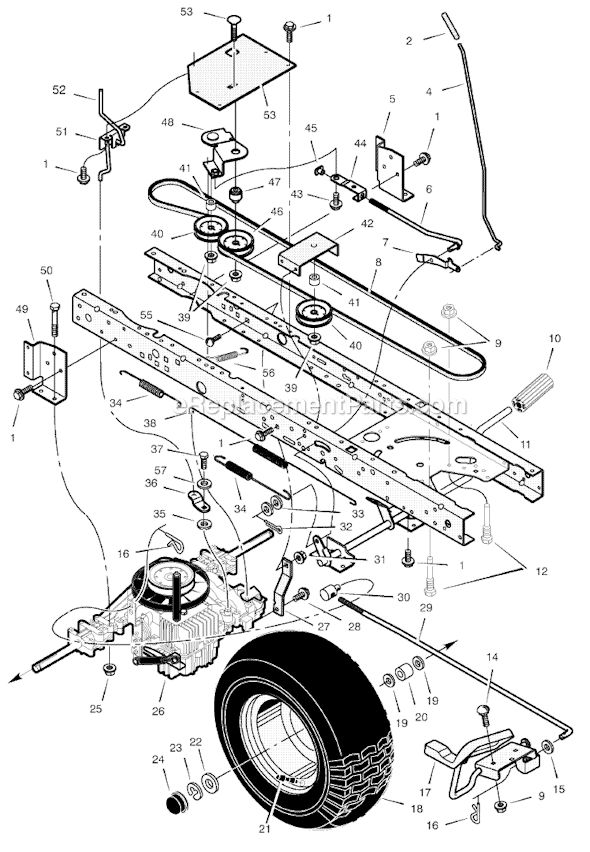 Murray 425600x8A Parts List and Diagram
