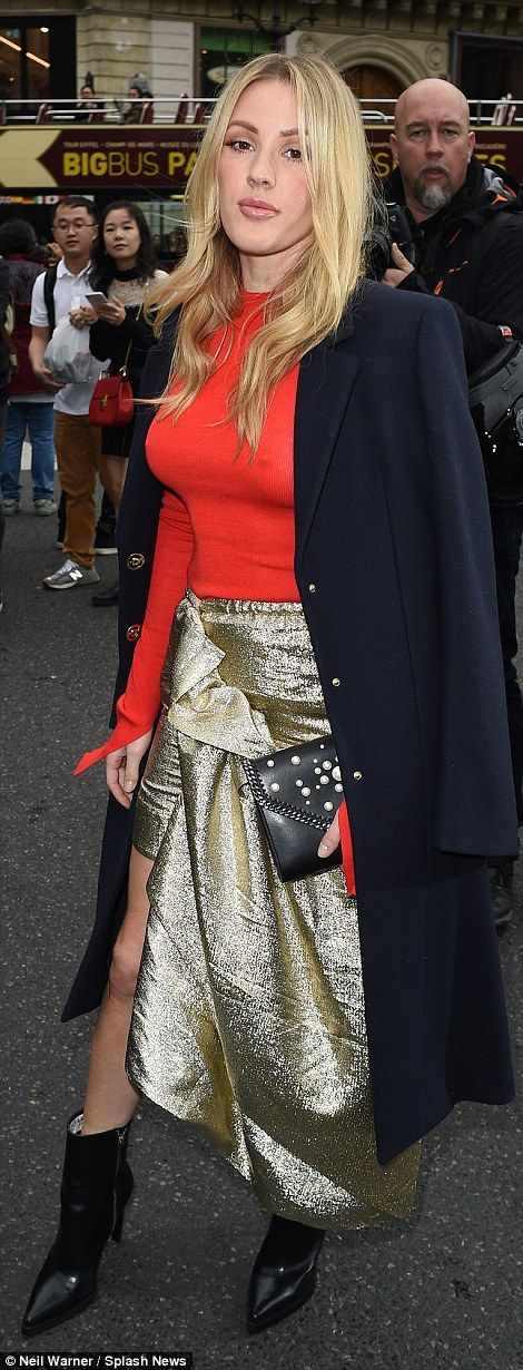 Style savvy: The blonde bombshell looked incredible in the shimmering ensemble