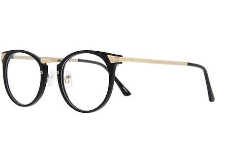 c37bf886cac Black Plastic Full-Rim Frame with Metal Alloy Temples  785321 Round  Eyeglasses