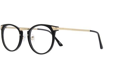 18f0100b65 Black Plastic Full-Rim Frame with Metal Alloy Temples  785321 Round  Eyeglasses
