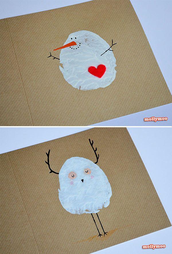 Las 25 mejores ideas sobre felicitaciones de navidad en for Tarjetas de navidad hechas por ninos