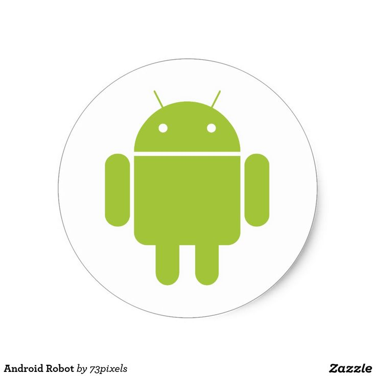 Android Robot Classic Round Sticker #sticker